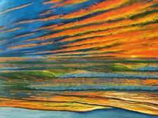 Florida Surf Sunrise Original Digital Art
