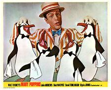 Mary Poppins original lobby card Dick Van Dyke and penguins
