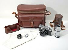Canon E-P Rangefinder Camera w 35mm Travegon lens & Telephoto Lens & Viewfinders