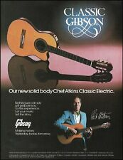 Chet Atkins Signature Gibson Classic electric/acoustic guitar 1983 ad print