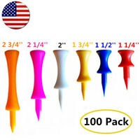 Plastic Golf Tees 100 Pack Step-Down Graduated Castle Tee Height Control US Ship