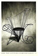1986 - METAL CHAIR SCULPTURE BY ANDRE DUBREUIL - PHOTO BY CINDY PALMANO