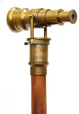 Vintage Nautical Brass Handle With Folding Telescope Cane Walking Stick