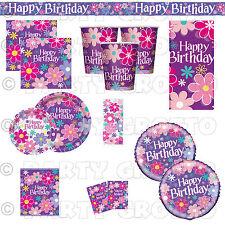 BLOSSOM Flower Birthday Summer Garden Girls Party Supplies Tableware Decorations