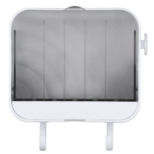 Soap Dish Holder Box Wall Mount Clamshell Soap Holder w/Hook for Shower Bathroom