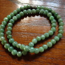 Natural Burmese jade necklace with genuine green color