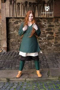 Medieval Tunic Women Viking /Larp - Green By Burgschneider
