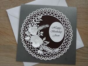 """PERSONALISED 6"""" x 6"""" BIRTHDAY/ANNIVERSARY/SYMPATHY GREETING CARD ANY OCCASION"""