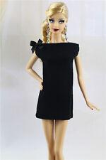 & fait main style vintage petite robe noire / outfit pour poupée Barbie Silkstone h04u