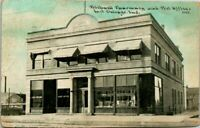 """Antique Postcard  EAST CHICAGO Indiana  """"BICKNELL PHARMACY AND POST OFFICE"""""""