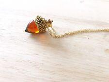 Vintage Style Acorn Necklace, Tree, Autumn, Autumnal