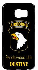 US Airborne DESTINY 101 Army Black Case Cover for Samsung S6 S5 S4 S3 Note2 3 4