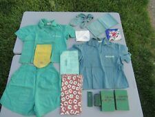 Vintage 1940s, Lot Of Girl Scouts Uniforms, Books, Socks, Scarfs & Accessories