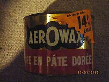vintage aero wax tin can 1950,s 60,s polish car automobile rare restore golden