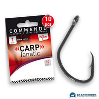 Carpzoom Commando Carp Fanatic Hooks//Carp Hooks with Eye Hooks Loose New