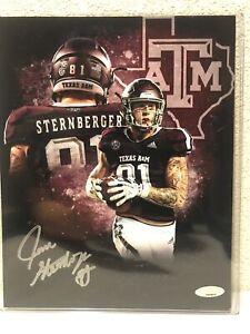 Jace Sternberger Signed Texas A&M Aggies 8x10 Photo Tristar