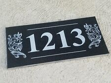 Address House Business Plaque House Sign Numbers Black Granite