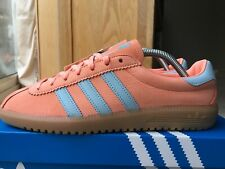 Adidas Bermuda Size 8 80s Football Casuals Chalk Coral & Ash Grey With Gum