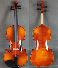 YMmusic-VB540 Solid Strad Model Hand Made&Varnished 4/4 Violin w/ Case&Bow