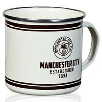 Man City Retro Tin Mug - Manchester City Mug -Official Merchandise  - Ideal Gift