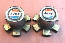 AMC Jeep Wagoneer SJ Cherokee FSJ Chrome Wheel Center Caps 5356482