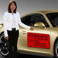 2x 60x30cm Magnetschild Magnettafel für Auto KFZ mit Ihrer Werbung bedruckt