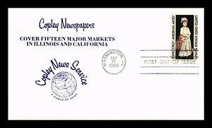 DR JIM STAMPS US COPLEY NEWS SERVICE FIRST DAY COVER SCOTT 1273