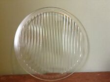 """Vintage SPREADLIGHT 9"""" x 8"""" McKee OLD Clear Glass HEAD Light Lamp LENS AnTiQuE"""
