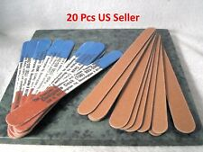 Double Sided Manicure Nail Files Pack of 20 Red/White/Blue on one side & brown