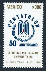 Mexico 1551 block/4,MNH.Michel 2088. University Military Pentathlon,50,1988.