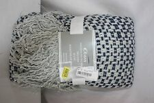 "Afghan Throw Blanket Basketweave Aman 50X70"" 100% Cotton $59.00 New Nwt"