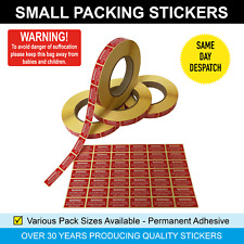 New Listingwarning Of Suffocation Small Packing Bright Red Sticky Labels Stickers