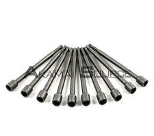 "1/4"" Shank 10pc Long Magnetic Nut Driver Set Standard SAE 3/8"" x 6"" Quick Change"