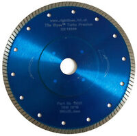 Porcelain Tile Cutting Diamond Blade.Turbo. 180mm x 22.2mm. Hard Tiles Cut Fast.