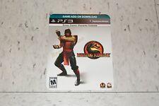 Mortal Kombat Classic ERMAC Costume DLC Code PS3