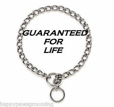 "PREMIUM DOG CHOKE Chain Collar 10""XS EXTRA-SMALL Puppy Toy Breed Training Chrome"