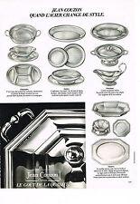 PUBLICITE ADVERTISING 034   1980   JEAN COUZON   art de la table le gout de la q