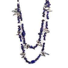 Necklace New Strand Necklace Womens Jewelry Genuine Lapis Lazuli