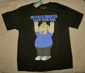 FAMILY GUY *My Dad Is Smarter...* Licensed Blk S/S Tee T-Shirt Boys sz 14/16