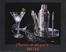 "Michael Godard ""THREE AMIGOS"" Martini-Olives-Cigar-Las Vegas-Party-Poster"