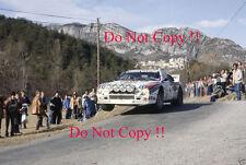 MARKKU ALEN LANCIA MARTINI 037 Monte Carlo Rally 1983 Fotografia