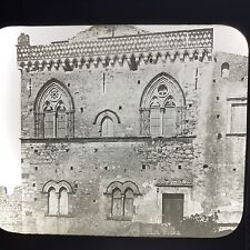 Antique Magic Lantern Glass Slide Photo Taomina Church Of St. Stephen