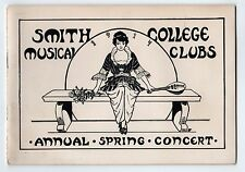 RARE 1916 SMITH COLLEGE Glee Mandolin MUSIC CLUB Program CONCERT Northampton MA