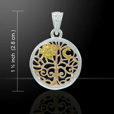 Oberon Zell Tree of Life Sigil Three Tone Sterling Silver Pendant Peter Stone
