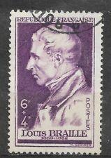 Timbre FRANCE Oblitéré YT 793 MI 808 Louis BRAILLE 1948