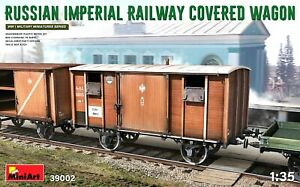 Miniart 1:35 Russian Imperial Railway Covered Wagon Model Kit