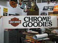 Harley-Davidson Chrome Goodies Dealer Store Display Sign Poster Banner #769