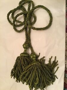 NEW Houles Paris Large Double Tassel Tieback in Bright Green