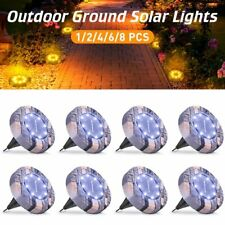 LED Solar Power Ground Lights Floor Decking Outdoor Garden Lawn Path Lamp Light