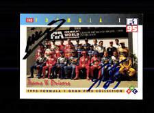 Mika Salo Ukyo Katayama Autogrammkarte Original Signiert Formel 1 +A 149162